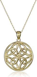 Sterling Silver Celtic Knot Pendant Necklace, 18