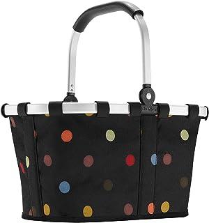Reisenthel carrybag XS dots Einkaufskorb Picknickkorb Henkelkorb 5 Liter schwarz mit Punkten - Größe beachten !