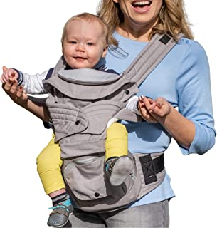 Mamapod All-Position Baby and Toddler Carrier with Hip Seat, Gray