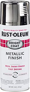Rust-Oleum Stops Rust Bright Coat Spray 7718830-6 PK Color 11 Oz, Gloss, 6 Pack, Metallic Chrome