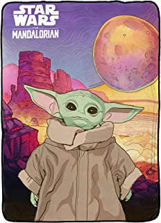 Sponsored Ad - Star Wars The Mandalorian The Child Baby Yoda First Meeting Blanket - Measures 62 x 90 inches, Kids Bedding...