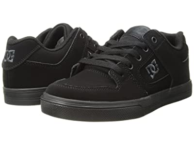 DC Kids Pure (Little Kid/Big Kid) (Black/Pirate Black) Boys Shoes