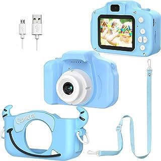 Appareil Photo Numérique pour Enfants Double Objectif pour Photos et Vidéos - 1080P HD - Jouet Électronique avec Carte SD ...