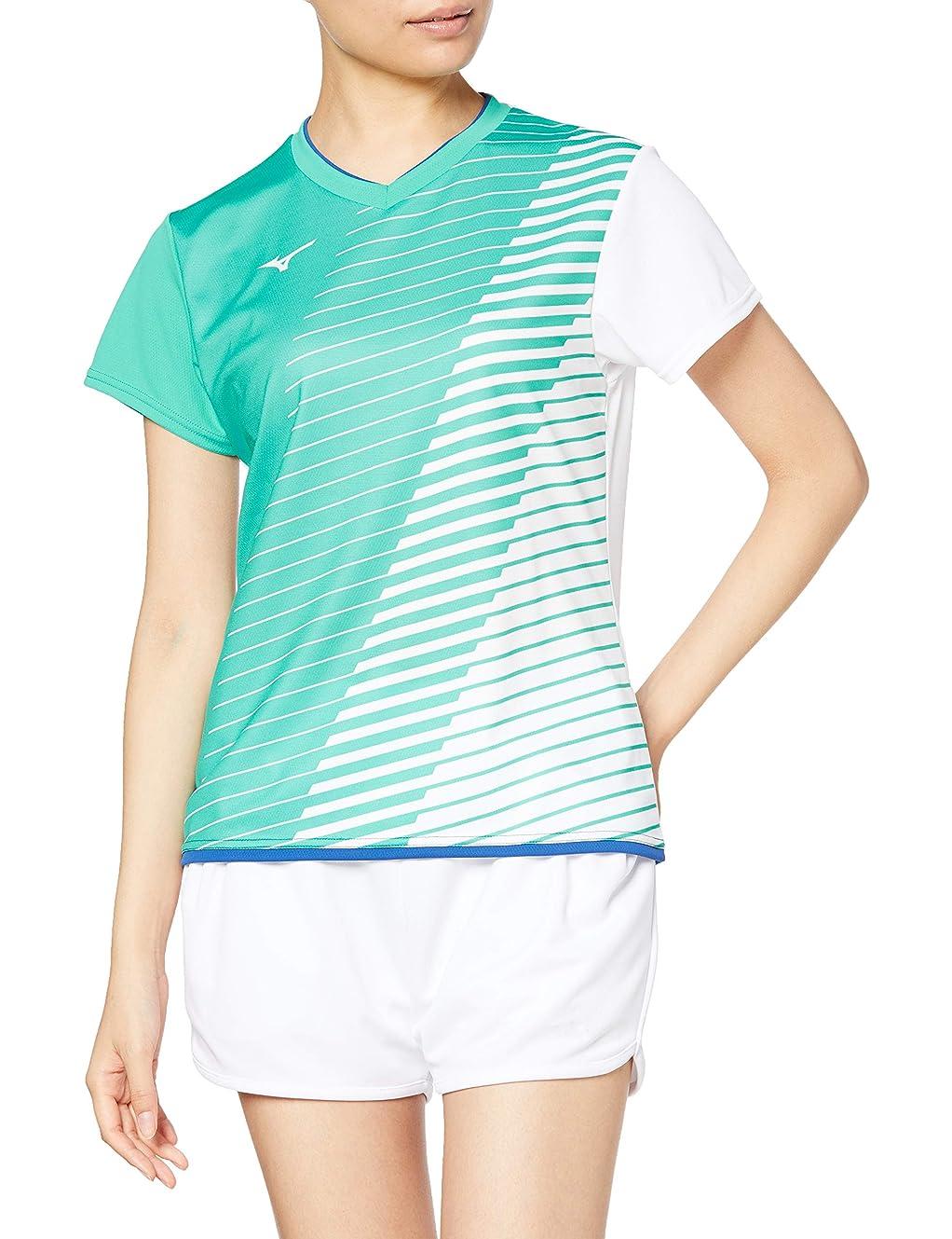 通貨偽物画面[ミズノ] バドミントンウェア ゲームシャツ 半袖 72MA0221 レディース