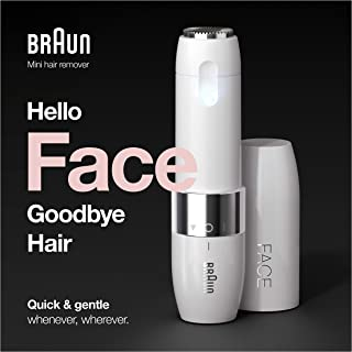 Braun Face FS1000 gezichtsscheerapparaat voor dames, met geïntegreerd Smartlight-licht, voor het verwijderen van gezichtsh...