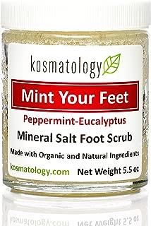 Kosmatology Mint Your Feet (Peppermint-Eucalyptus) Mineral Salt Foot Scrub, 5.5 oz