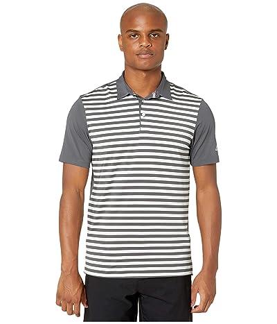 adidas Golf Ultimate365 Wide Stripe Polo Shirt (Grey Five/White) Men
