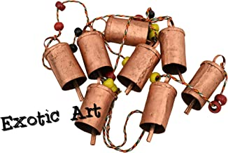 Exotic Art Home Decorative Swiss Cow Bell Wall Hanging Copper Antique Finish Windchime