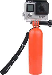 Floating Hand Grip for Gopro Hero 6, 5 Black and Session, Hero 4 Session, Black, Silver, Hero+ LCD, 3+, 3 - Floating Hand Grip with Camera and Tripod/Pole Mount / Includes Thumb Screw and Wrist Strap