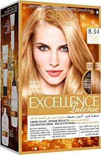 L'Oreal Paris Excellence Intense Light Golden Blonde 8.34 Haircolor