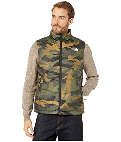 The North Face Junction Insulated Vest (Burnt Olive Green Waxed Camo Print) Men
