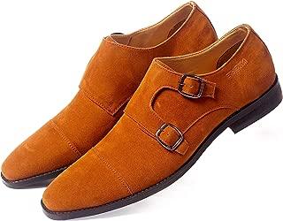 NICHE Men's Formal Casual Shoes Tan Color Strap Monk