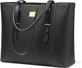 کیف دستی لپ تاپ مخصوص کیف دستی های بزرگ دفتر زنانه تا 15.6 اینچ متناسب است (نسخه بروز شده) -Black
