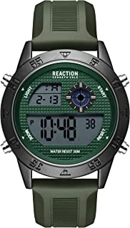 Kenneth Cole Men's Quartz Sport Watch with Silicone Strap, Green, 24 (Model: RK51107001)