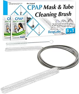 RespLabs CPAP Tube Cleaning Brush - The [8 in 1] System for Every CPAP Hose Type: Standard, Slim Line And Heated Tubing