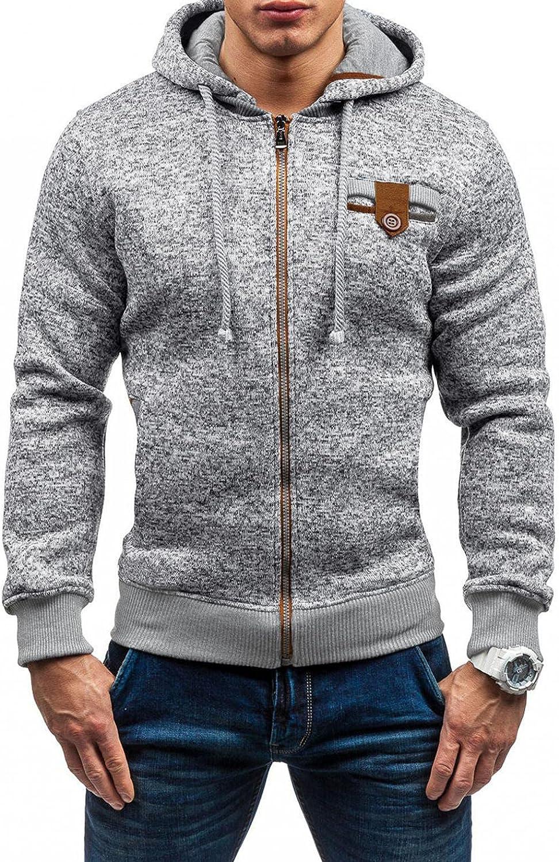 Sweatshirts for Men Zip Up Pullover Hoodies Midweight Long Sleeve Drawstring Sports Athletic Sweatshirt Gym Hooded Tops