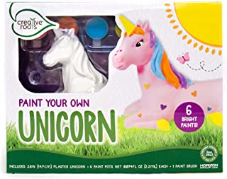 CREATIVE ROOTS Paint Your Own Unicorn by Horizon Group USA, DIY Kit, Includes 6 Paint Pots & Paint Brush, Multicolor