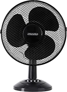 Mesko MS 7309 MS7309 Ventilador de Mesa oscilante, Inclinable, 30 cm, 3 velocidades, Negro, 70W, 40 W, 34,5x19,5x37