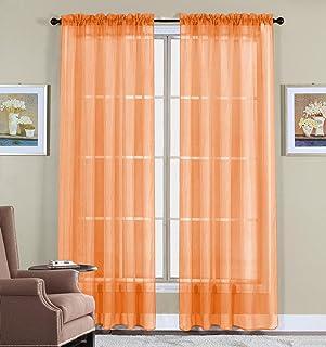 Amazon.com: Orange - Draperies & Curtains / Window Treatments: Home ...