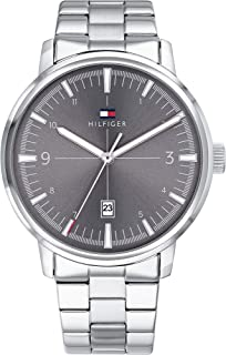 Tommy Hilfiger Grey Dial Stainless Steel Watch For Men