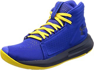 Under Armour Boys' Grade School Torch Mid Basketball Shoe, Team Royal (401)/Taxi, 3.5