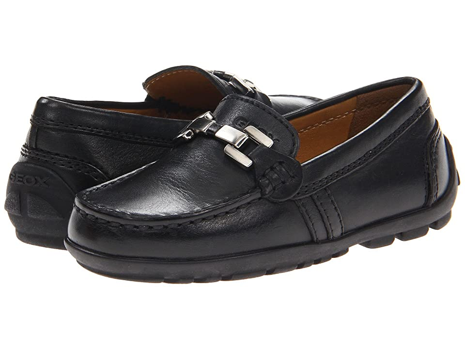 Geox Kids Jr Fast 8 (Toddler/Little Kid) (Black) Boys Shoes