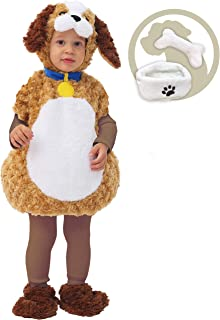 Baby Cuddly Puppy Costume Deluxe Set for Kids Halloween Trick or Treat Infant Costume
