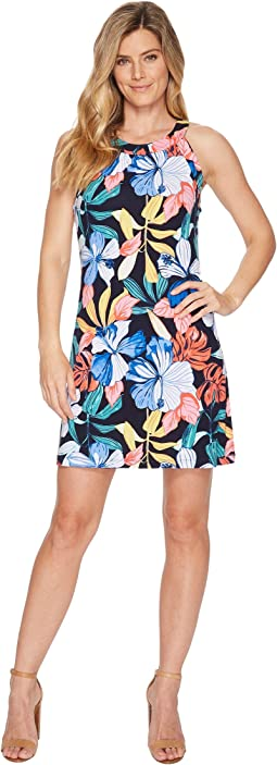 Tommy Bahama Hibis-Sketch Sleeveless Short Dress