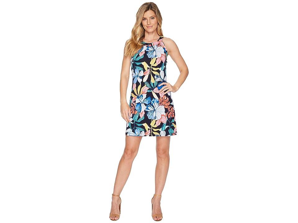 Tommy Bahama Hibis-Sketch Sleeveless Short Dress (Ocean Deep) Women