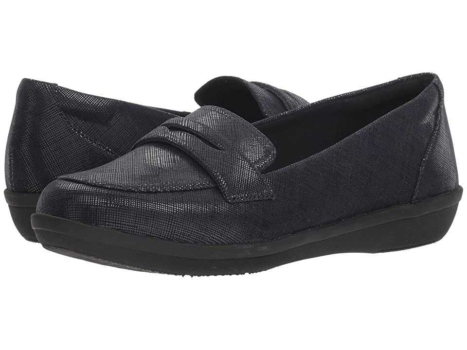Clarks Ayla Form (Navy Synthetic) Women