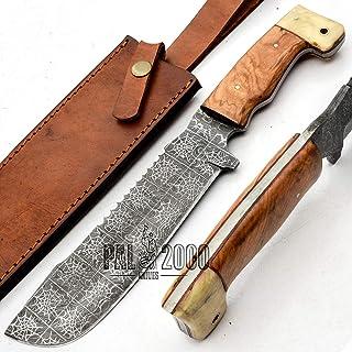 Cuchillo de cocina 8807 de acero de damasco hecho a mano, de primera calidad