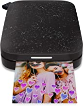 $89 » HP Sprocket Portable Photo Printer (2nd Edition)  Instantly Print 2x3 Sticky-Backed Photos from Your Phone  [Noir] [1AS86A] (Renewed)