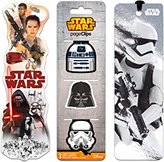 Star Wars Bookmark Party Favors Set - 5 Premium Bookmarks Featuring The Force Awakens, Darth Vader, and More (Star Wars Office Supplies)