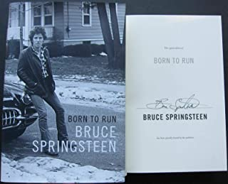 Bruce Springsteen signed book Born to Run 1st Print Beckett BAS Authentic auto - Beckett Authentication