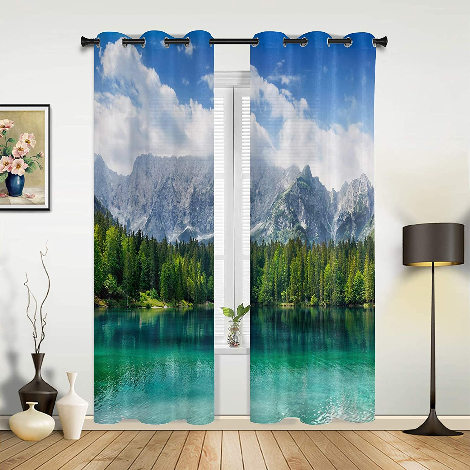 Challenge the lowest price of Japan Window Sheer Curtains for Bedroom Living Rare Dense Green Summer Fore