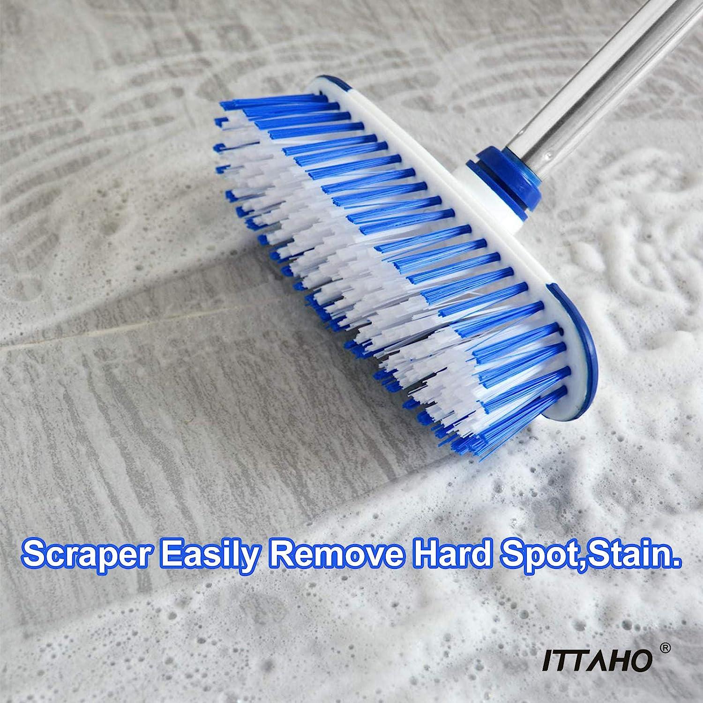 Buy ITTAHO Multi Use Floor Scrub Brush with Long Handle,Extendable ...