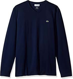 Lacoste Men's Long Sleeve Jersey Pima V-Neck T-Shirt