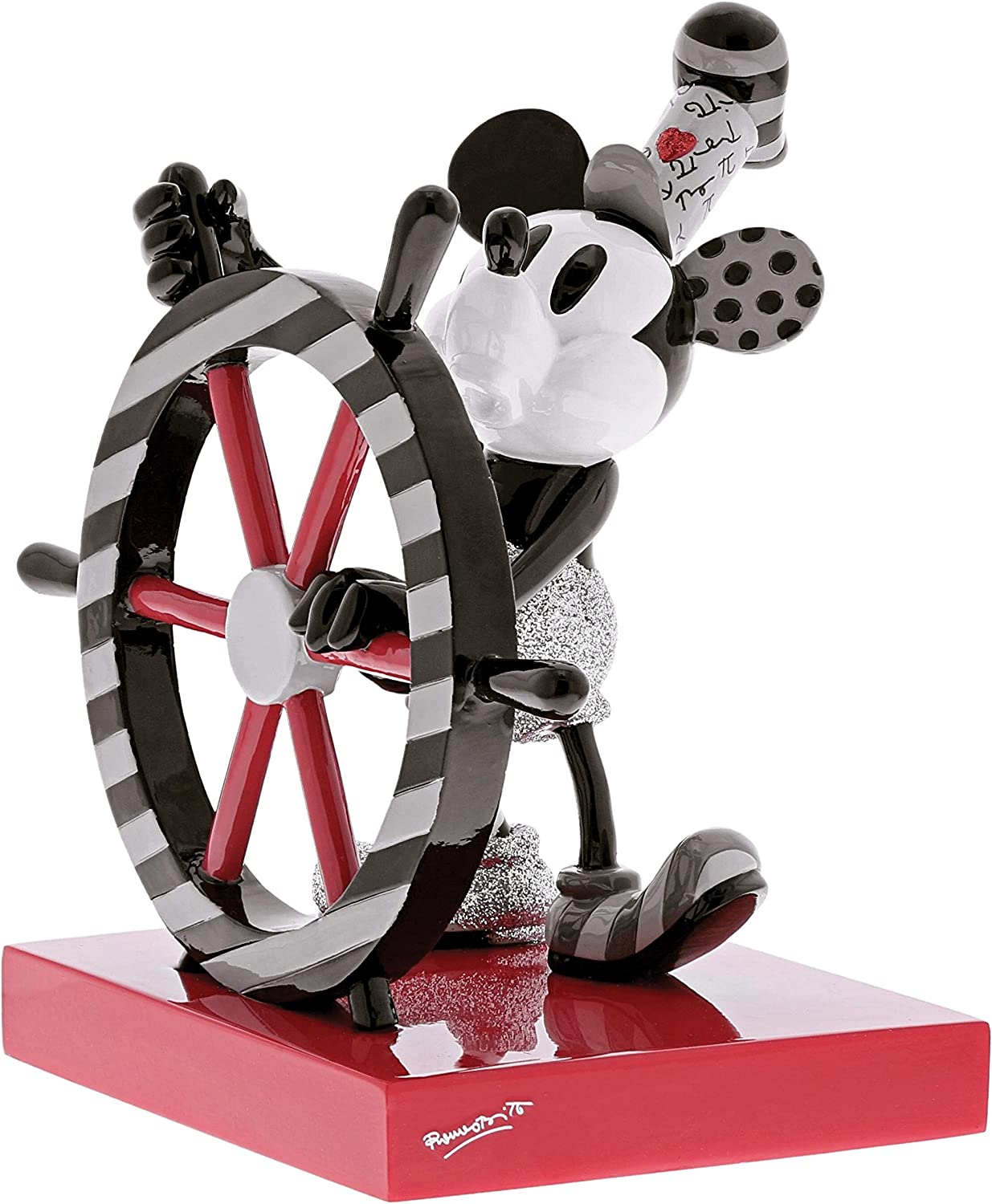Enesco Disney by Britto Steamboat Willie, 7.25  Stone Resin Figurine
