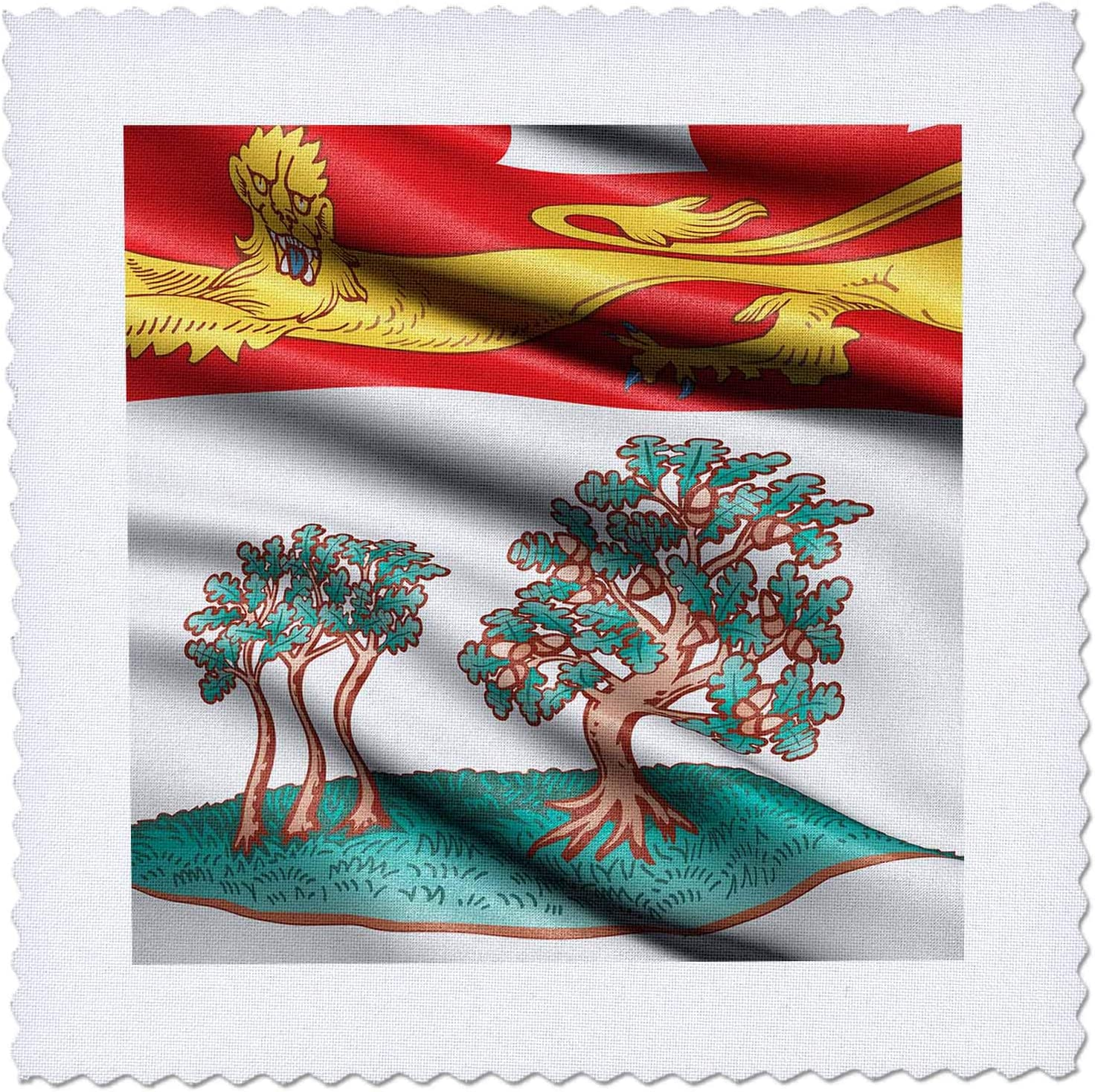 3dRose Flag of Prince Edward Island waving Quilt S in - the Max 60% OFF wind Luxury goods