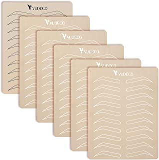 """VUDECO Practice Skin for Tattooing Tattoo Supplies 6 Piece Microblading Practice Skin 5 White and 1 Black 8X6"""" Each Sheet ..."""
