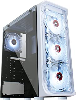 KEDIERS 4 PC Fans Computer Case ATX Mid Tower PC Gaming...