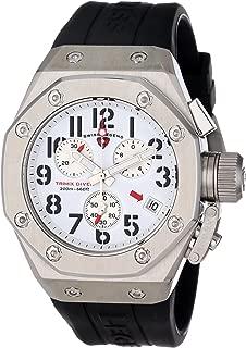 Men's 10541-02 Trimix Diver Collection Chronograph Black Rubber Watch