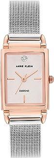 Anne Klein 3037SVRT Women's Rose Gold Dial Mesh Bracelet Watch