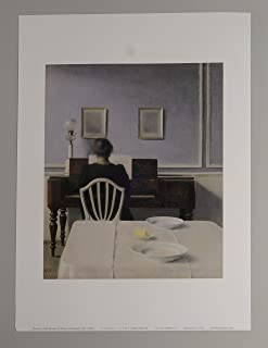 BiblioArt Series ハマスホイ「Interior with Woman at Piano, Strandgade 30)」A4版額絵