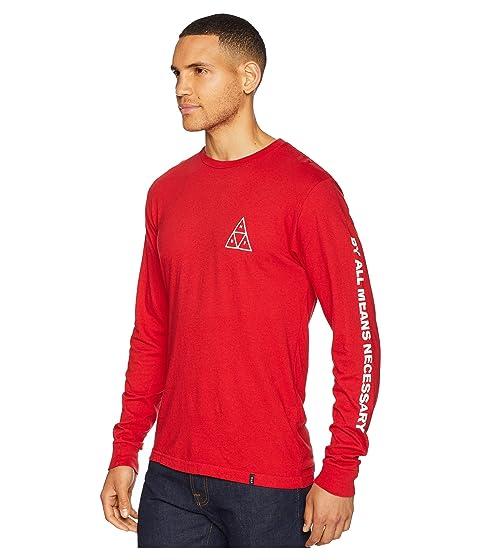 HUF TT de Resort Camiseta manga Red Essentials larga OatFFvZw