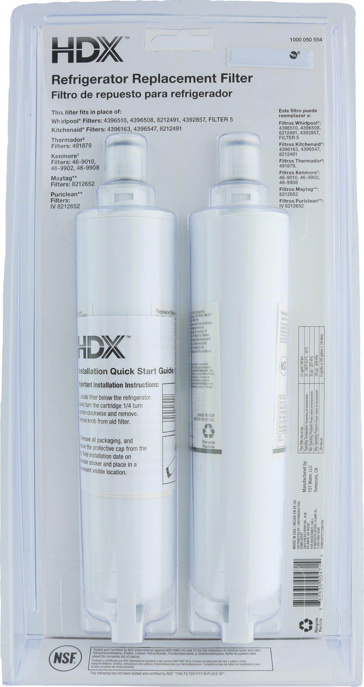 HDX FMW-2 Filtro de agua / purificador de repuesto para ...