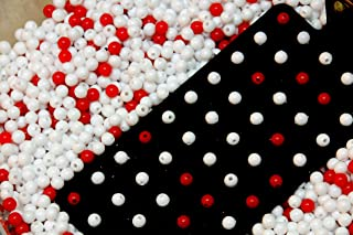 Deming Red Bead Experiment, 3200 White Beads, 800 Red Beads, Black Metal Paddle, 9 X 9 X 3 Inch Rubbermaid Tub