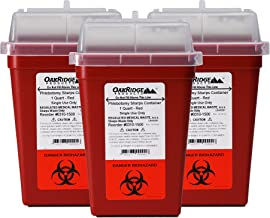 OakRidge Products 1 Quart Size (Pack of 3) Sharps Disposal Container