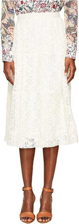 Lace and Pleats Skirt