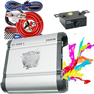 $103 » Soundxtrem ST-2000.1 2000 Watt Peak Power Handalling Amp Monoblock Car Audio Amplifiers with Bass Knob Remote Control+ Com...